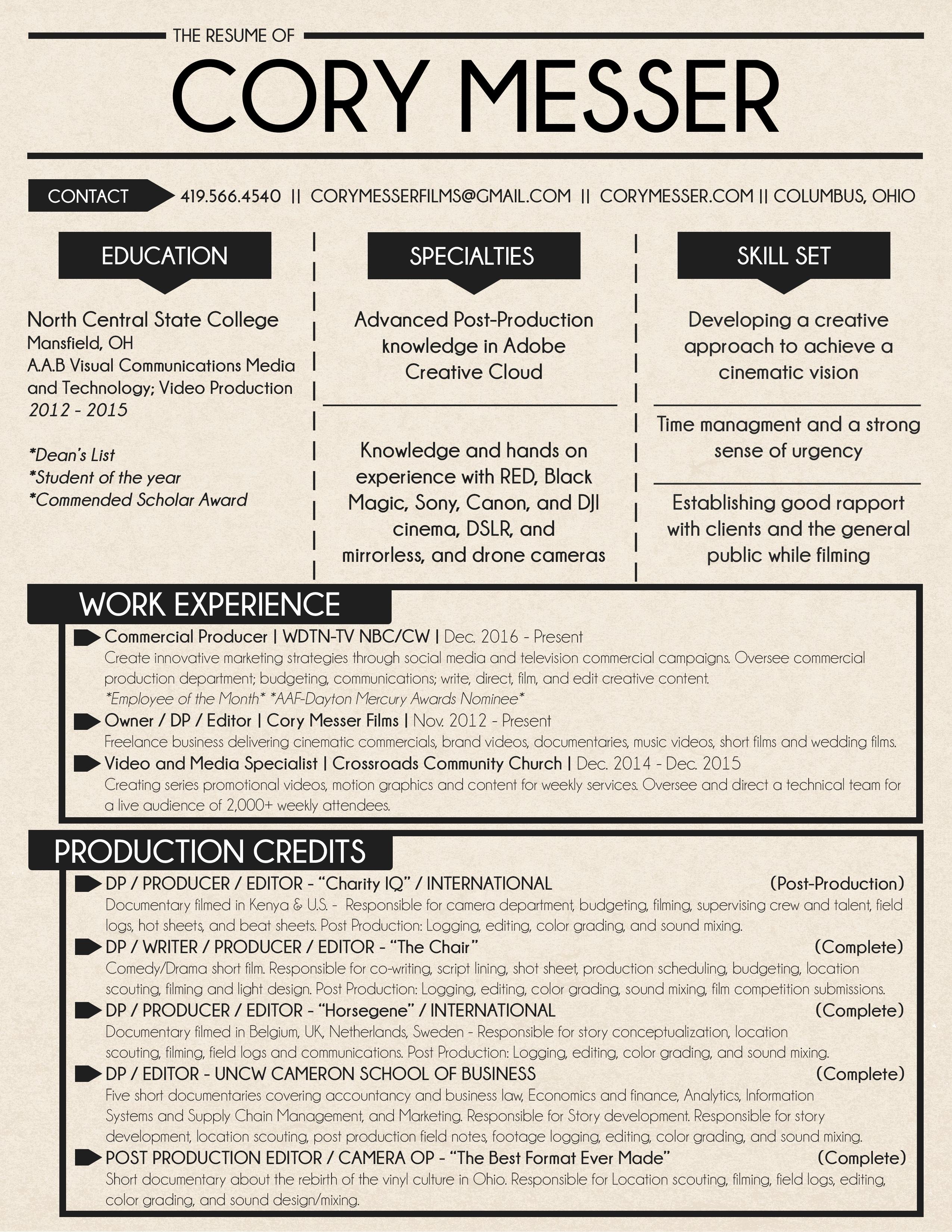 Film Producer Resume Resume Central Write Up A Resume Usa Jobs